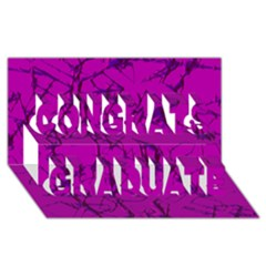 Thorny Abstract,hot Pink Congrats Graduate 3D Greeting Card (8x4)