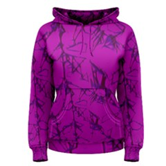 Thorny Abstract,hot Pink Women s Pullover Hoodie