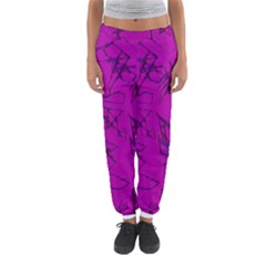 Thorny Abstract,hot Pink Women s Jogger Sweatpants