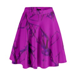 Thorny Abstract,hot Pink High Waist Skirt
