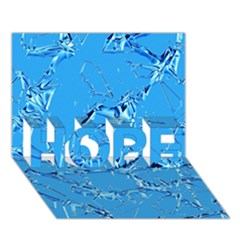 Thorny Abstract,ice Blue Hope 3d Greeting Card (7x5)