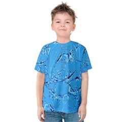 Thorny Abstract,ice Blue Kid s Cotton Tee