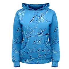 Thorny Abstract,ice Blue Women s Pullover Hoodie