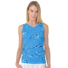 Thorny Abstract,ice Blue Women s Basketball Tank Top