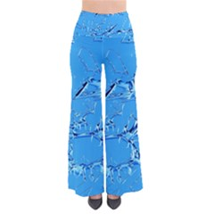 Thorny Abstract,ice Blue Pants
