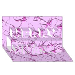 Thorny Abstract,soft Pink Merry Xmas 3d Greeting Card (8x4)