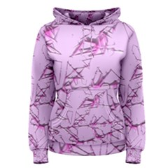 Thorny Abstract,soft Pink Women s Pullover Hoodie