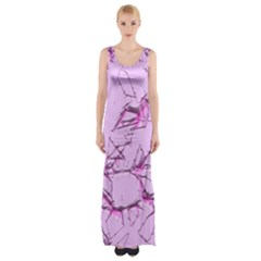Thorny Abstract,soft Pink Maxi Thigh Split Dress
