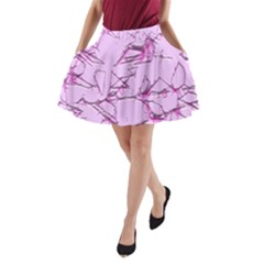 Thorny Abstract,soft Pink A-Line Pocket Skirt