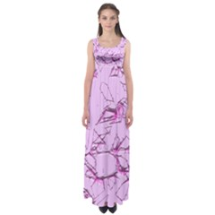 Thorny Abstract,soft Pink Empire Waist Maxi Dress