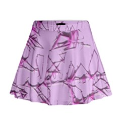 Thorny Abstract,soft Pink Mini Flare Skirt