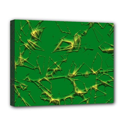 Thorny Abstract,green Deluxe Canvas 20  x 16