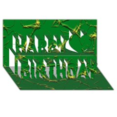Thorny Abstract,green Happy Birthday 3d Greeting Card (8x4)