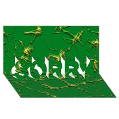 Thorny Abstract,green SORRY 3D Greeting Card (8x4)