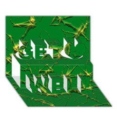 Thorny Abstract,green Get Well 3d Greeting Card (7x5)