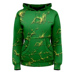 Thorny Abstract,green Women s Pullover Hoodie