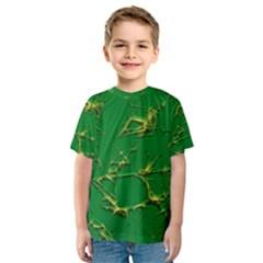 Thorny Abstract,green Kid s Sport Mesh Tee