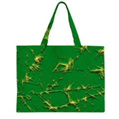 Thorny Abstract,green Large Tote Bag