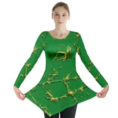 Thorny Abstract,green Long Sleeve Tunic