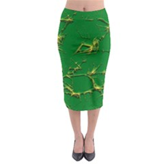 Thorny Abstract,green Midi Pencil Skirt