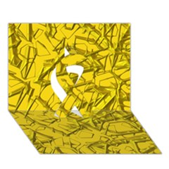 Thorny Abstract,golden Ribbon 3D Greeting Card (7x5)