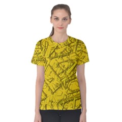Thorny Abstract,golden Women s Cotton Tee