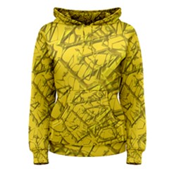 Thorny Abstract,golden Women s Pullover Hoodie
