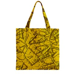 Thorny Abstract,golden Zipper Grocery Tote Bag