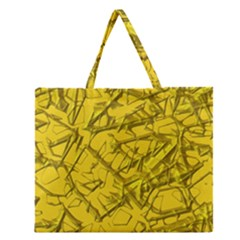 Thorny Abstract,golden Zipper Large Tote Bag