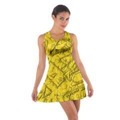 Thorny Abstract,golden Racerback Dresses