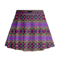 Saturn Sun Mini Flare Skirt