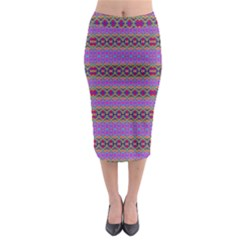 Saturn Sun Midi Pencil Skirt