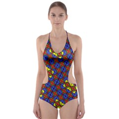 PSYCHO TWO Cut-Out One Piece Swimsuit