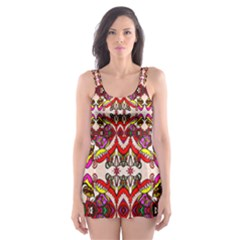 Birds Skater Dress Swimsuit