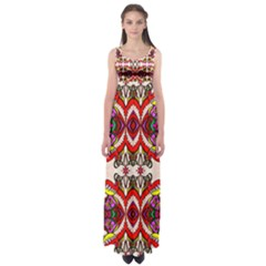 Birds Empire Waist Maxi Dress