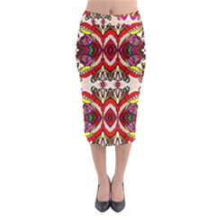 Birds Midi Pencil Skirt