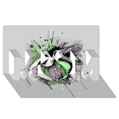 Recently Deceased Mom 3d Greeting Card (8x4)