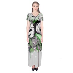 Recently Deceased Short Sleeve Maxi Dress