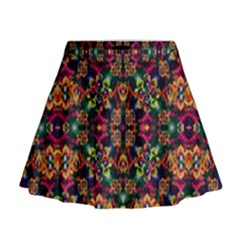 Luxury Boho Baroque Mini Flare Skirt