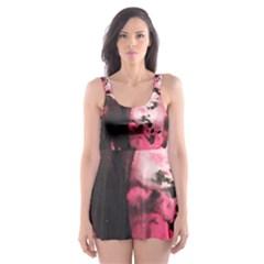 Pink Skater Dress Swimsuit