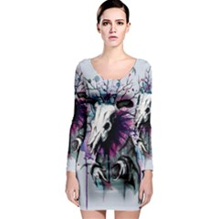 From Nature We Must Stray Long Sleeve Bodycon Dress