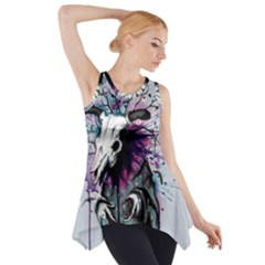 From Nature We Must Stray Side Drop Tank Tunic