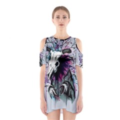 From Nature We Must Stray Cutout Shoulder Dress