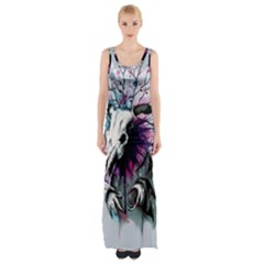 From Nature We Must Stray Maxi Thigh Split Dress