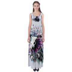 From Nature We Must Stray Empire Waist Maxi Dress