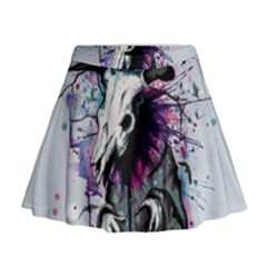 From Nature We Must Stray Mini Flare Skirt