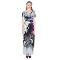 From Nature We Must Stray Short Sleeve Maxi Dress