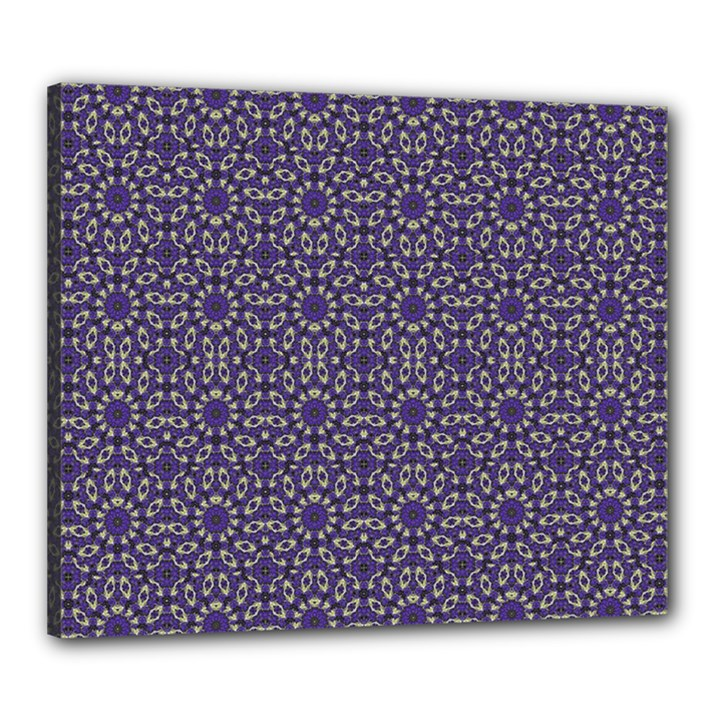 Stylized Floral Check Canvas 24  x 20