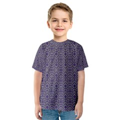 Stylized Floral Check Kid s Sport Mesh Tee