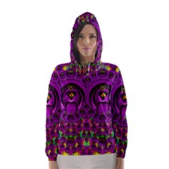 Love For The Fruit And Stars In The Milky Way Hooded Wind Breaker (Women)
